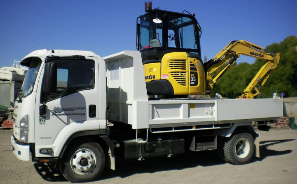 Truck And Digger Of Marlborough Turf Professionals NZ