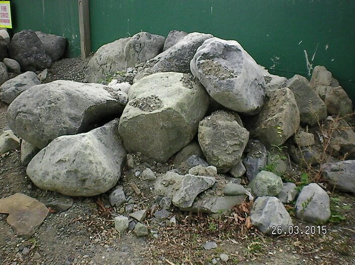 Landscape rocks, sample 2 - available from Marlborough Turf Professionals