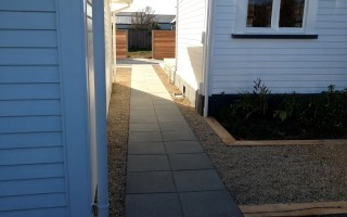 garden edging pavers nz. macro garden edging with pavers in marble chip. nz e