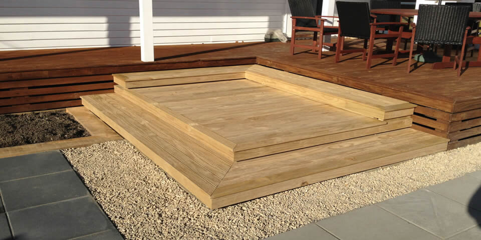 Extended Decking  & Easy Care Landscape